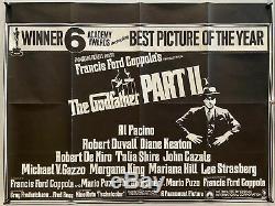 Le Parrain II Du Royaume-uni British Quad (1975) Film Affiche Originale