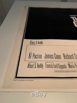 Le Parrain Vintage Film Original Uk Crown Quad 1972 Très Rare