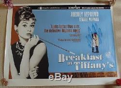 Le Petit Déjeuner Au Cinéma Original Quad Bfi De Tiffany Affiche De Film Rare Audrey Hepburn