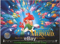 Le Petit Poster Film Mermaid Original R1997 British Quad 30x40 Disney