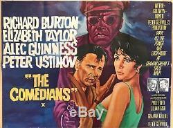 Le Quad Original Comédiens Britannique Affiche Du Film 1967 Burton & Taylor