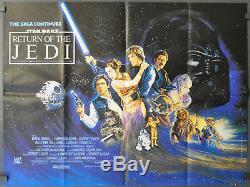 Le Retour De Jedi 1983: Affiche Du Film Orig 30x40 Quad Harrison Ford