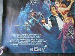Le Retour Du Jedi Affiche Originale Britannique Quad 1983
