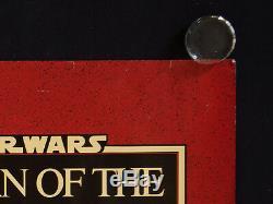 Le Retour Du Jedi Rare 1983 Affiche De Film Britannique Quad Rolled