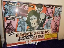 Le Rocky Horror Picture Show 1975 Royaume-uni Quad Affiche De Film Encadrée Et Émaillée Original