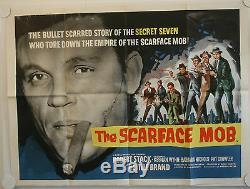 Le Scarface Mob Original Uk Quad Affiche De Film
