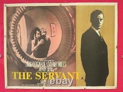 Le Servant Original 1963 Uk Quad Cinema Film Poster Linen Backed Dirk Bogarde