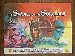 Le Suède Et Le Sorcer (1982) Affiche Du Quadruple Britannique Grande Oeuvre De Fantaisie