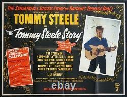Le Tommy Steele Story Skiffle Craze Rare 1957 British Quad