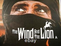 Le Wind Et Le Lion Original 1975 Quad Affiche De Cinéma Connery Lin Soutenu