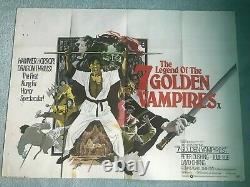 Legend Of The 7 Golden Vampires 1974 Affiche De Cinéma Originale Du Royaume-uni Quad