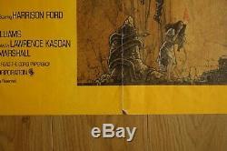 Les Aventuriers De L'arche Perdue, 1982. Affiche De Film Originale Britannique Quad