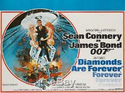 Les Diamants Originaux Sont Éternels, Affiche Britannique De Film / Film De 1971, Bond