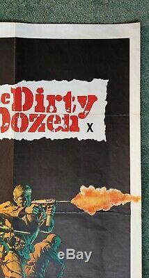 Les Douze Salopards (1967) Affiche-1er Original Film Quad Uk Release- Marvin Bronson