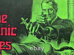Les Droits Sataniques De Dracula Original Linen Backed Uk Quad Film Poster 1973 Lee