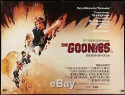 Les Goonies 1985 30x40 Affiche Originale Quad Struzan Spielberg Film / Galerie D'art