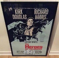 Les Héros De Télémark Uk Quad Cinéma Film Poster 1965 Guerre Original Vintage