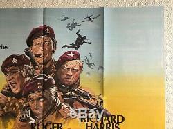 Les Oies Sauvages Affiche Originale Du Film Quad 1978 Burton Moore Harris Kruger Putzu