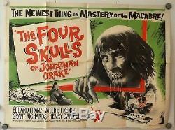 Les Quatre Crânes De Jonathan Drake Affiche Originale Du Film Britannique Rare Quad Uk