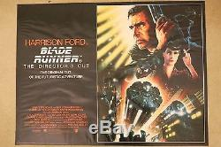 Les Réalisateurs De Blade Runner 1992 Coupent L'affiche Originale Du Film Quad Movie Au Royaume-uni Roulée