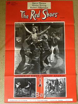 Les Red Shoes Rr Original Uk Quad Film Affiche Michael Powell Pressburger