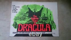 Les Rites Sataniques De Dracula' 1973 Affiche De Cinéma Quad Britannique