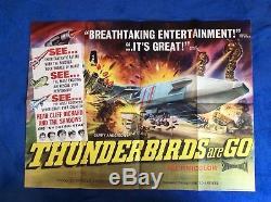 Les Thunderbirds Are Go Affiche Du Film Originale Britannique Quad Gerry Anderson