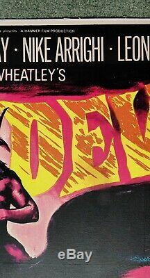 Les Vierges De Satan (1968) D'origine Affiche Du Film Quad Uk Linenbd Hammer Horror