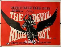 Les Vierges De Satan Uk Quad Entoilée (rr 1970) Film Affiche Originale