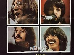Let It Be Affiche De Film Originale (fine) Quad Britannique 1970 Beatles John Lennon