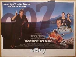 Licence De Kill (1989) Affiche Originale De Film / Film Quad Au Royaume-uni, James Bond 007