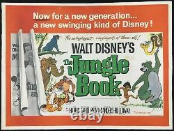 Livre De Jungle Original Quad Affiche De Cinéma Première Sortie Walt Disney 1967