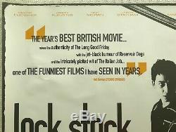 Lock Stock Crimes Et Botanique Affiche Originale Du Film Quad 1998 Vinnie Jones