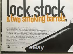 Lock Stock Et Deux Barils Fumeurs Affiche Originale Du Film Quad 1998 Vinnie Jones