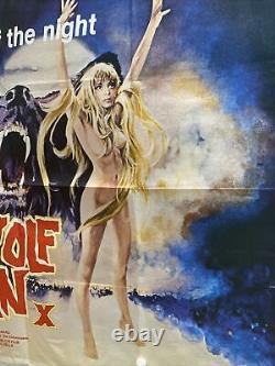 Loup-garou Woman Britannique British Quad Affiche De Film (1976) X Cert Rare