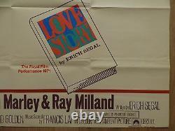 Love Story (1970) Affiche Originale Du Quad Du Royaume-uni, Ali Macgraw, Ryan O'neal