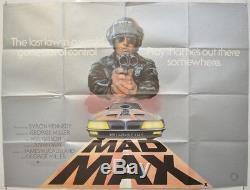 Mad Max (1979) Affiche De Film Cinéma Quad Originale Mel Gibson, George Miller