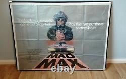 Mad Max (1979) Affiche Originale Du Quad Britannique Mel Gibson Road Warrior