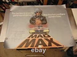 Mad Max 1979 Mel Gibson George Miller 30x40 British Quad Poster N7566