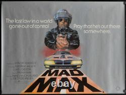 Mad Max 1980 Affiche De Cinéma Originale De 30x40 Rolled Uk Quad Mel Gibson Joanne Samuel