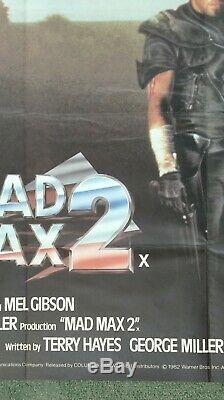 Mad Max 2 (1981) D'origine Affiche Du Film Quad Britannique Mel Gibson Road Warrior