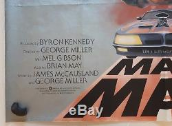 Mad Max, Affiche Originale Britannique De Cinéma De Film De Film De Quad 1979, Mel Gibson