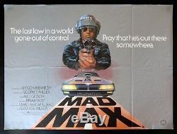 Mad Max Cinemasterpieces Poster Film Original Original Britannique Quad Vading 1979