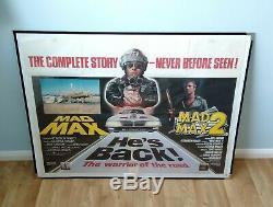 Mad Max / Mad Max 2 Affiche Originale De Film Quad D / B Au Royaume-uni Mel Gibson Road Warrior