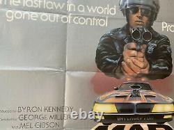 Mad Max Original Royaume-uni Britannique Quad Film Poster 1980 Mel Gibson
