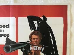 Magnum Force Original Film Film Quad Poster 1973 Clint Eastwood Bill Or Art