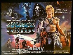 Maîtres Du Cinéma D'origine Univers Quad Affiche Du Film 1987 Mint Cond