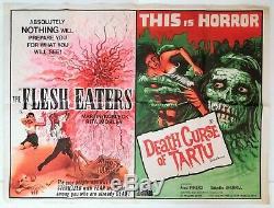 Mangeurs De Chair / Death Curse De Tartu D'origine Royaume-uni Quad Affiche De Film 1964/1966