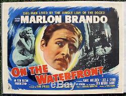 Marlon Brando Sur Le Bord De L'eau Britannique Affiche Quad Condition Vf