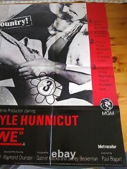 Marlowe James Garner 1969 Royaume-uni Film Quad Poster 30x40 + Lobby Cards Ex